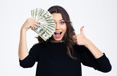 woman who received money